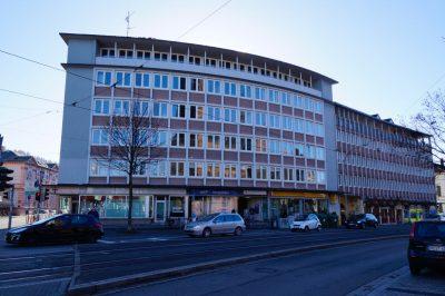 Basler Strasse 2, in dem sechsstöckigen Gebäude ist das Amt für öffentliche Ordnung