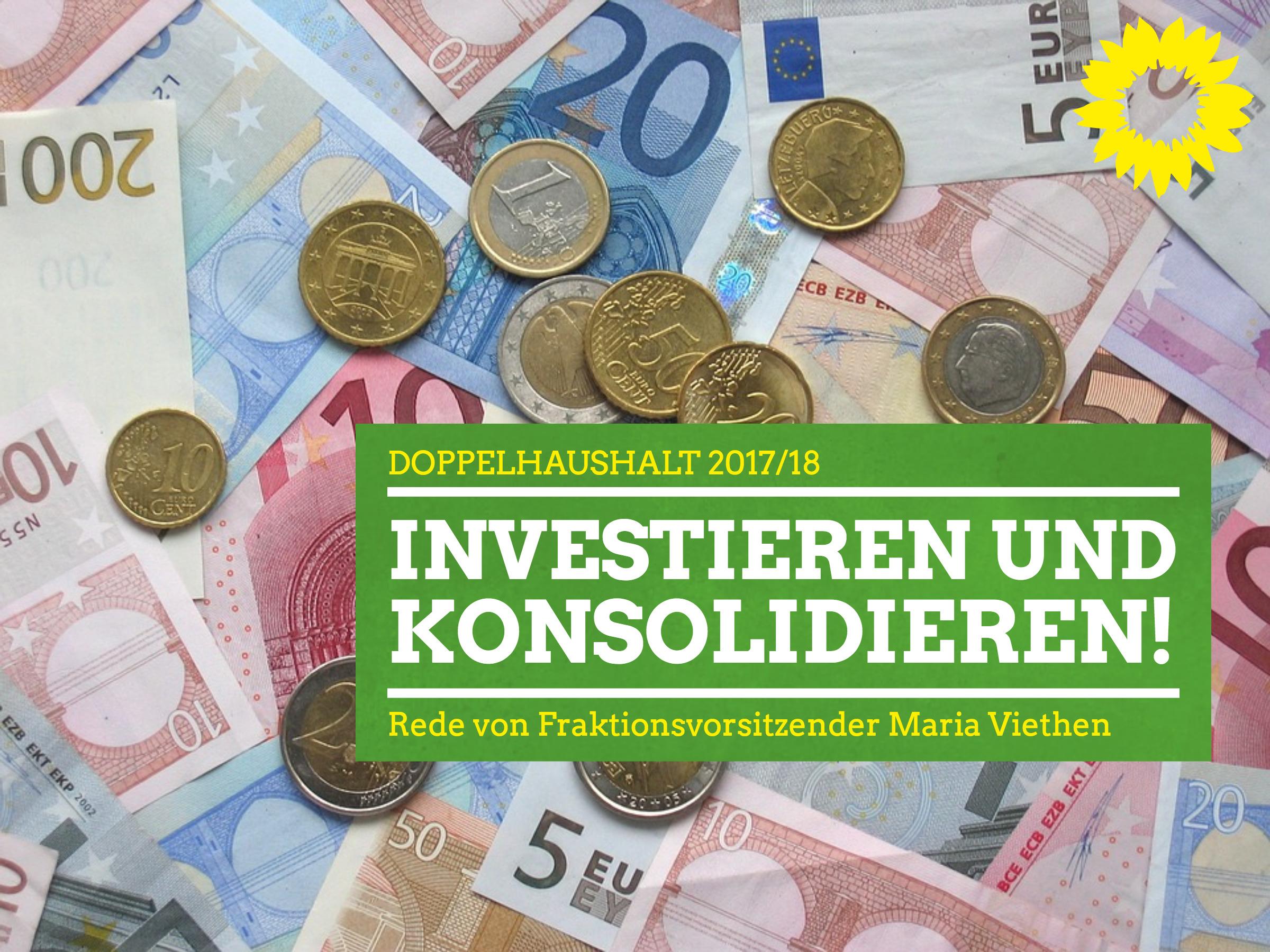 """""""Investieren und konsolidieren!"""""""