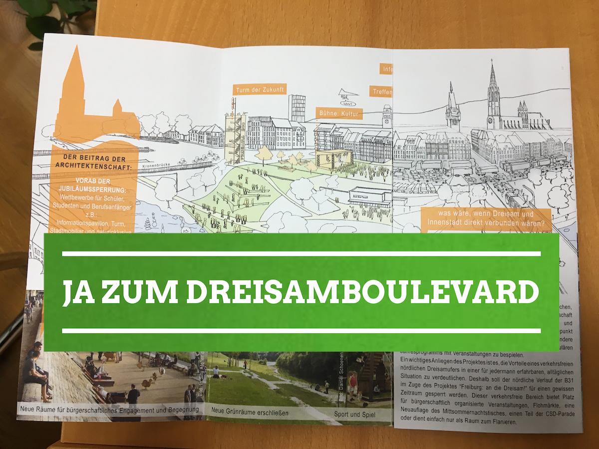 """""""Dreisam-Boulevard"""": CDU, SPD, Freie Wähler, FDP und Freiburg Lebenswert/Für Freiburg verhindern öffentliche Diskussion"""