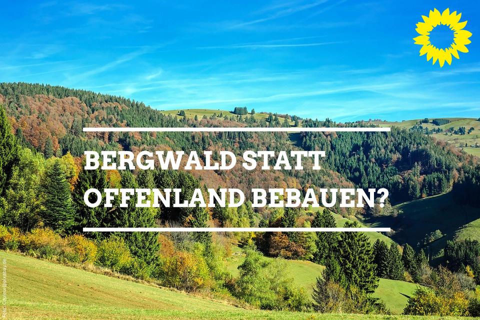 Offener Brief der Freiburger grünen Ratsfraktion an zwei von drei Freiburger Naturschutzbeauftragten zu deren Ablehnung des Stadtteils Dietenbach und dem Alternativvorschlag einer Bergwaldbebauung