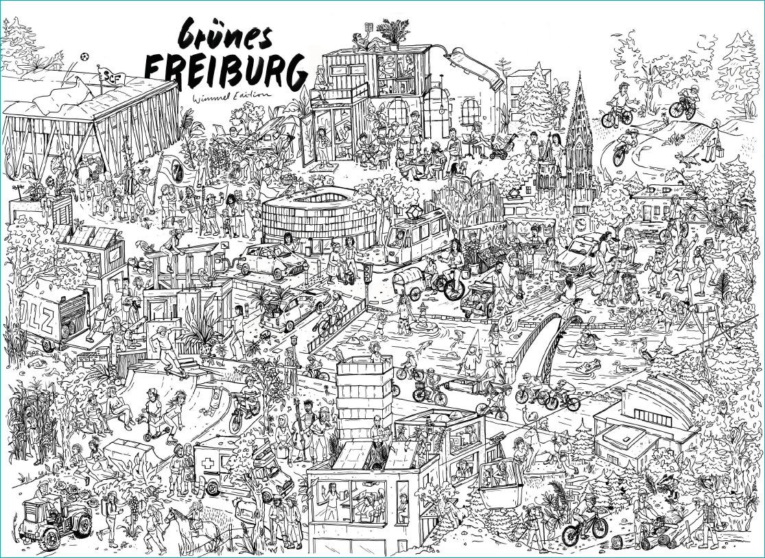 Wimmelbild Freiburg